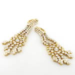 20ct yellow gold multi diamond drop earrings