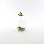 9ct yellow gold 'bottle of gold' charm