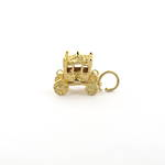 9ct yellow gold 'carriage' charm