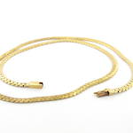 14ct yellow gold flat curb link necklace