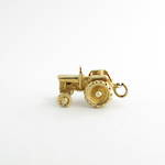 9ct yellow gold tractor charm