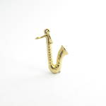 9ct yellow gold saxophone charm
