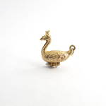 9ct yellow gold 'swan lake' swan with ballet slipper charm