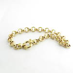 9ct yellow gold round belcher link bracelet