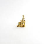 9ct yellow gold church charm - set with The Lords Prayer magnified inside