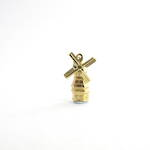14ct yellow gold windmill charm
