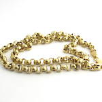 9ct yellow gold round belcher link chain
