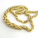 18ct yellow gold graduated fancy link necklace