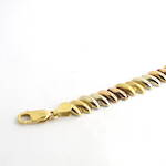 18ct tri gold fancy link bracelet