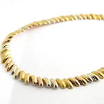 18ct tri gold fancy link necklace