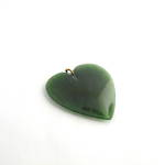 Greenstone heart shaped pendant