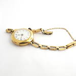 Women's yellow gold watch with 9ct case and gold plated bracelet