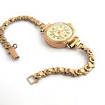 Women's rose over yellow gold watch with a 9ct case