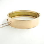 9ct rose gold antique hollow backed hinged bangle
