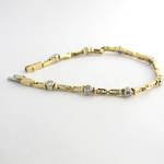 18ct yellow & white gold diamond bracelet