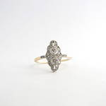 Platinum/14ct yellow gold Art Deco diamond ring