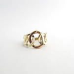 10ct yellow & rose gold dress ring