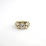 14ct yellow gold diamond solitaire ring