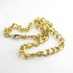 15ct yellow gold antique curb link chain
