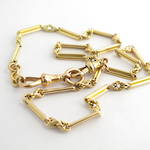 15ct yellow gold antique paperclip link chain/bracelet