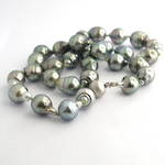 South Sea black baroque cultured pearl necklace