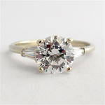 14ct white gold cubic zirconia solitaire dress ring