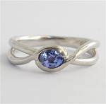 Platinum and tanzanite ring