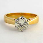 18ct yellow and white gold 1.20ct diamond solitaire ring