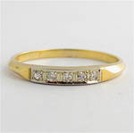 Lady's 14ct yellow and white gold diamond set eternity ring