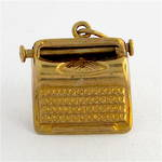 9ct yellow gold vintage Typewriter charm