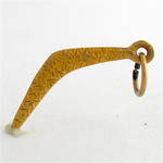 9ct yellow gold boomerang charm