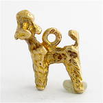 9ct yellow gold 'Poodle dog' charm