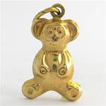 9ct yellow gold Teddy charm