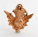 9ct rose gold Scotch thistle charm