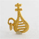 18ct yellow gold lyre charm