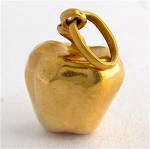 9ct yellow gold Apple charm