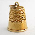 9ct yellow gold thimble charm