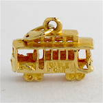 14ct yellow gold tram charm