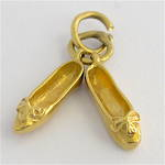 14ct yellow gold ballet shoes charm