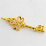 22ct yellow gold 21st key charm