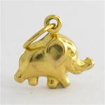 9ct yellow gold elephant charm
