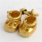 9ct baby shoes charm