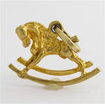 9ct yellow gold rocking horse charm