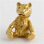9ct yellow gold teddy bear charm