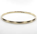 9ct yellow gold faceted solid bangle