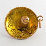 14ct yellow gold Mexican hat charm