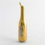 9ct yellow gold champagne bottle charm