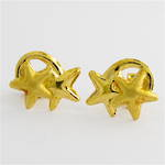 18ct yellow gold star stud earrings