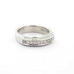 18ct white gold three row diamond set eternity ring