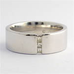 9ct white gold diamond band